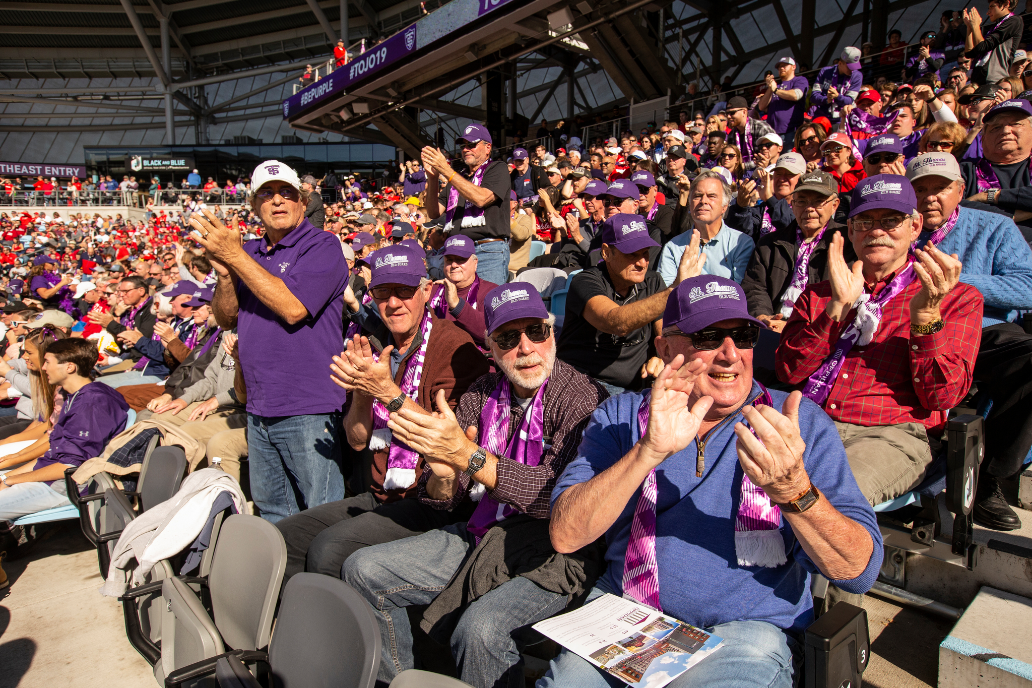 graduates of the class of 1969 celebrate at the 2019 Tommie-Johnnie football game