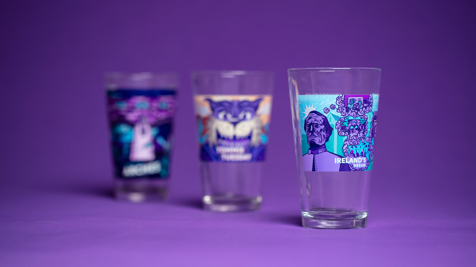 Collect all 3 designs for the annual Surly glass, provided to Sustainers!
