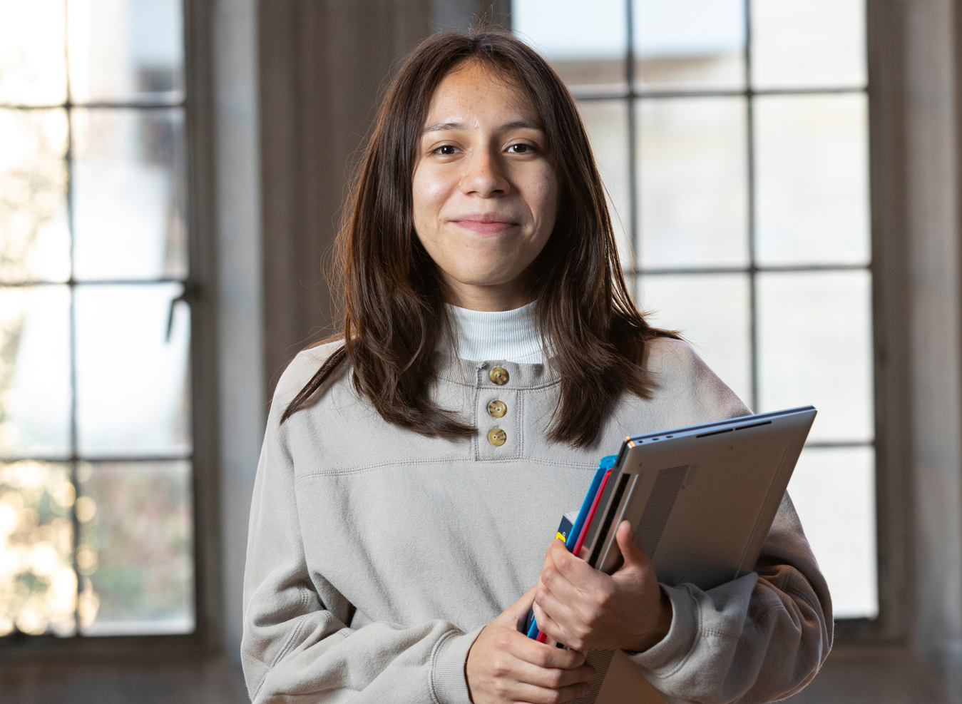 Cathy Soto photo in the library