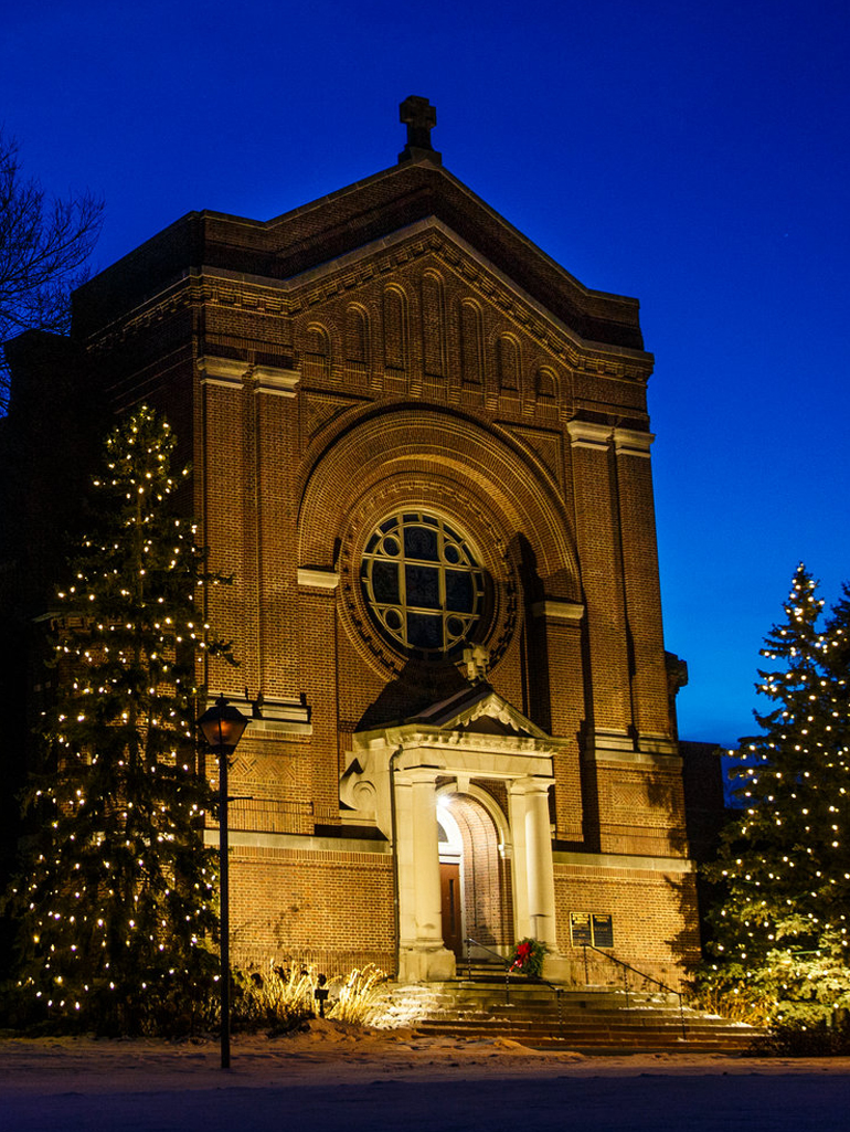 The Chapel of St. Thomas Aquinas is a beacon of faith on campus.