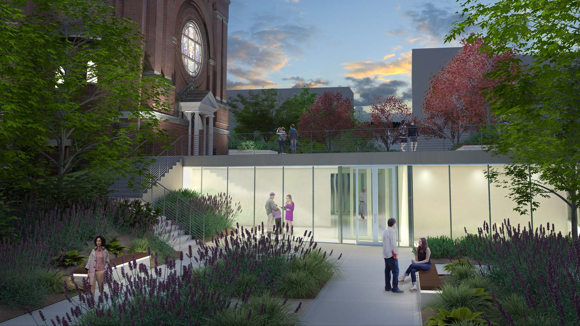 A rendering of the chapel renovation from Cleveland Avenue