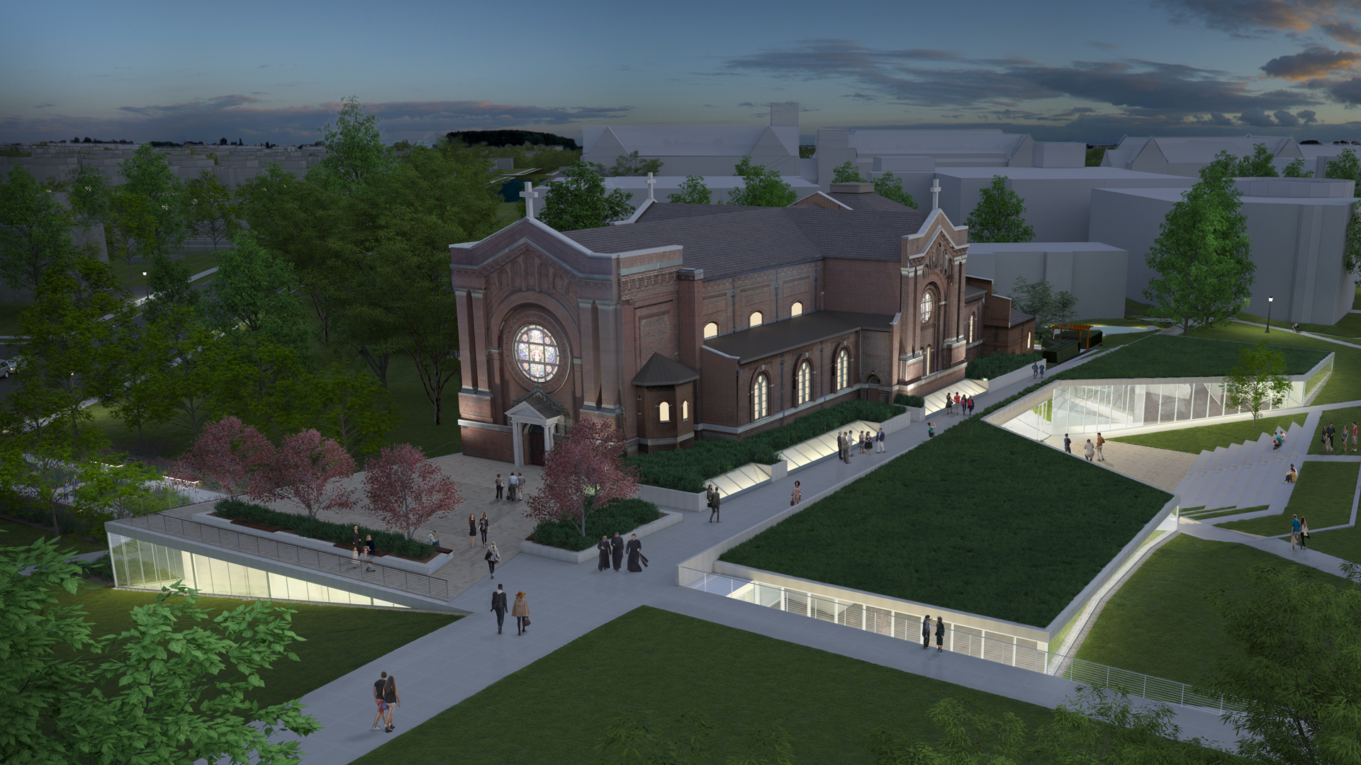 A rendering of the chapel renovation.
