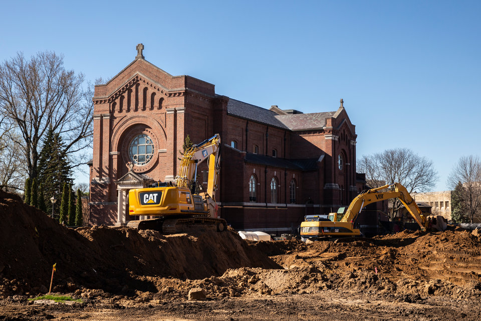 December 2019 construction on the north end of the St. Paul campus.